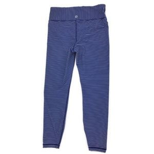 Gap Fit Blue and White Striped 7/8 Leggings